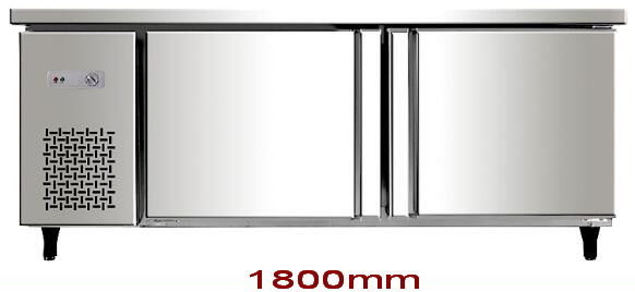 Horizontal Under Counter Fridge Freezer , 400L Stainless Steel Undercounter Refrigerator