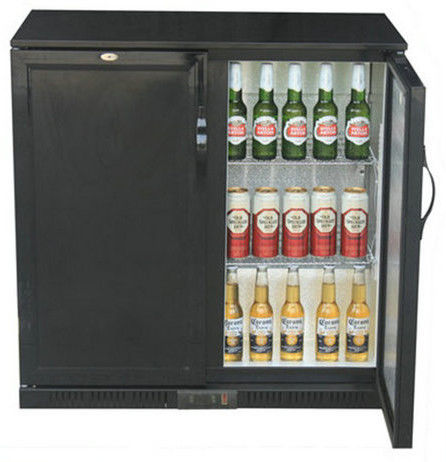 Electronic Digital Two Door Back Bar Cooler / Commercial Bar Refrigerator
